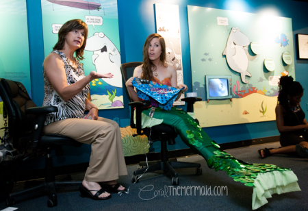 Teaching kids about balloons and ocean pollution with author Debbie Dadey in 2012. Photo: Ken Stanek